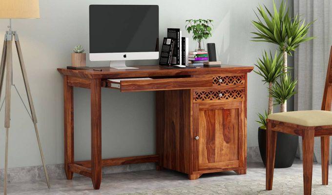 Cambrey Office Table (Teak Finish)-1