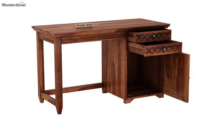 Cambrey Office Table (Teak Finish)-5