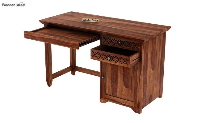 Cambrey Office Table (Teak Finish)-7