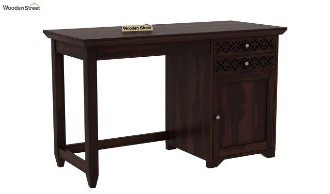 Cambrey Office Table (Walnut Finish)-3