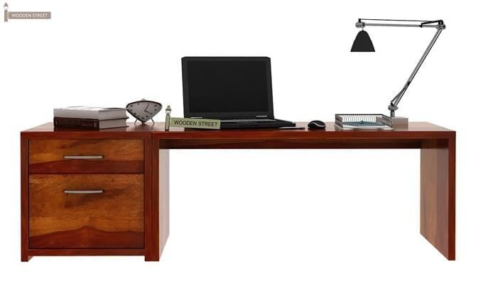 Cambria Study Table (Honey Finish)-2