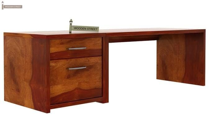 Cambria Study Table (Honey Finish)-5