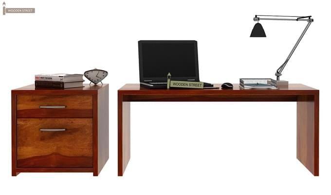 Cambria Study Table (Honey Finish)-7