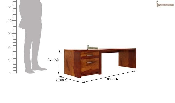 Cambria Study Table (Honey Finish)-8