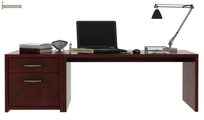Cambria Study Table (Mahogany Finish)-1