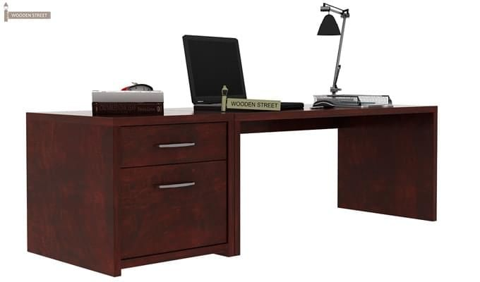 Cambria Study Table (Mahogany Finish)-2