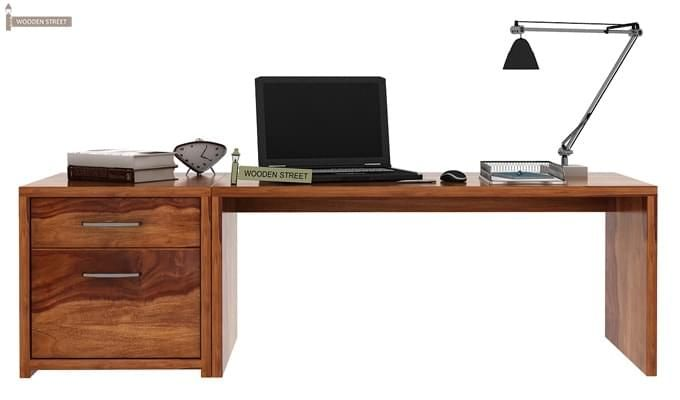 Cambria Study Table (Teak Finish)-1
