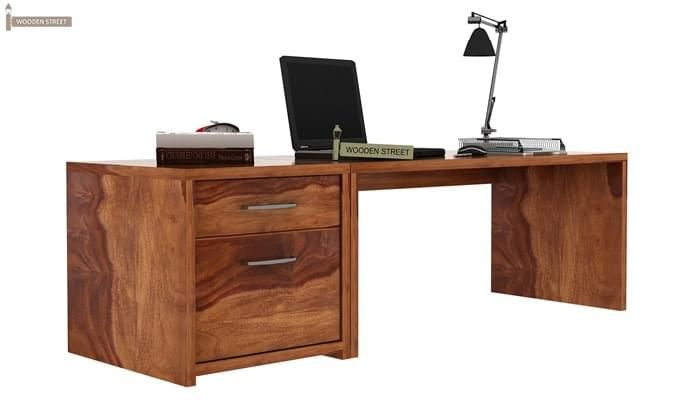Cambria Study Table (Teak Finish)-2