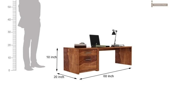 Cambria Study Table (Teak Finish)-3