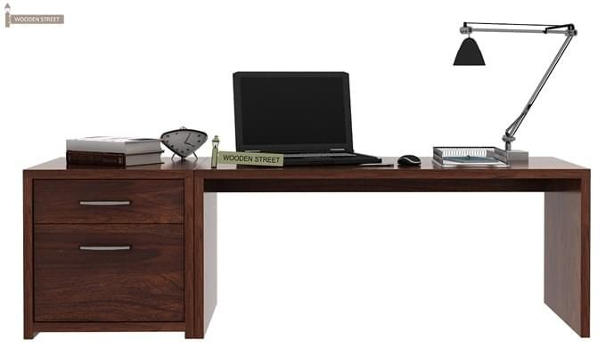 Cambria Study Table (Walnut Finish)-1
