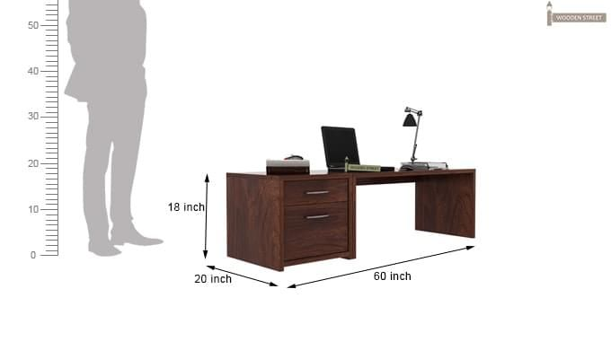 Cambria Study Table (Walnut Finish)-3