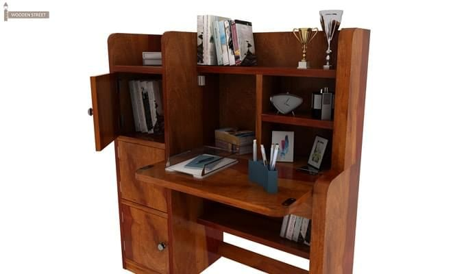 Candy Study Table (Honey Finish)-6