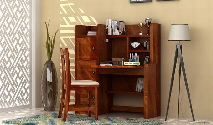 Candy Study Table (Honey Finish)-1