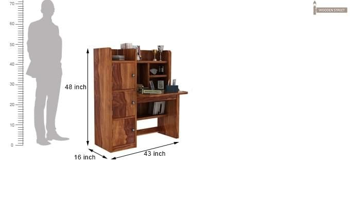 Candy Study Table (Teak Finish)-3