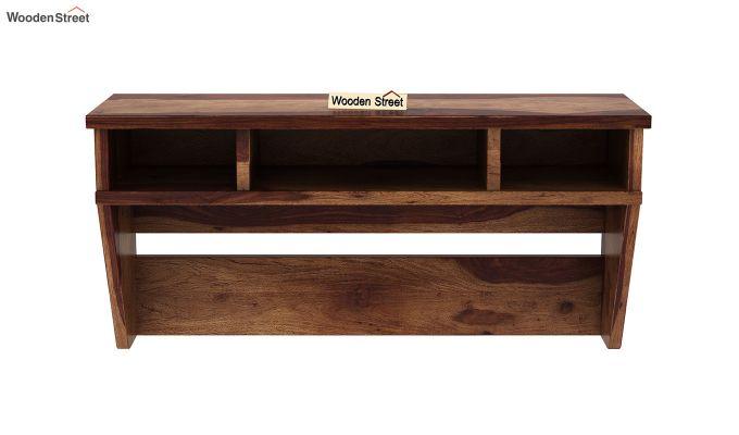Canyon Wall-Mount Study Table With Shelf (Teak Finish)-5