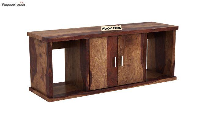 Canyon Wall-Mount Study Table With Shelf (Teak Finish)-6