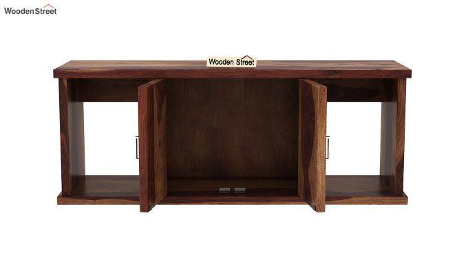 Canyon Wall-Mount Study Table With Shelf (Teak Finish)-7