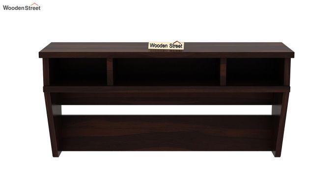 Canyon Wall-Mount Kids Study Table With Shelf (Walnut Finish)-5
