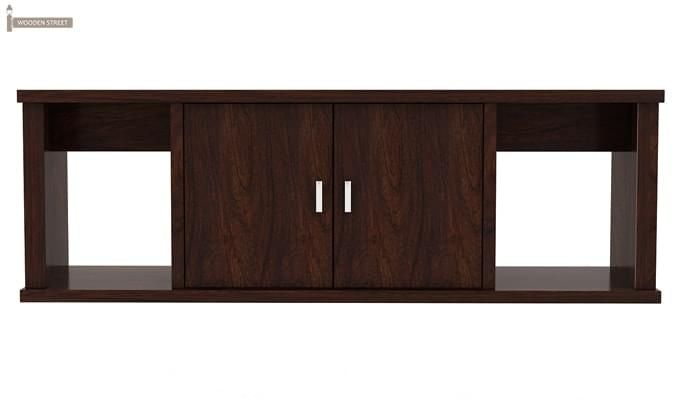 Canyon Wall-Mount Study Table With Shelf (Walnut Finish)-5