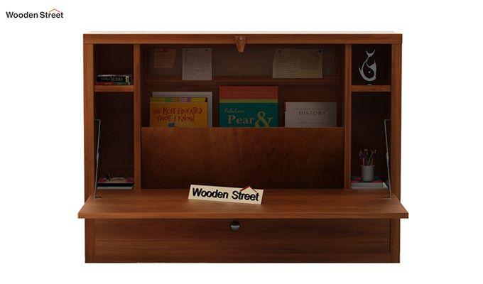 Carmel Wall Mounted Desk (Honey Finish)-2
