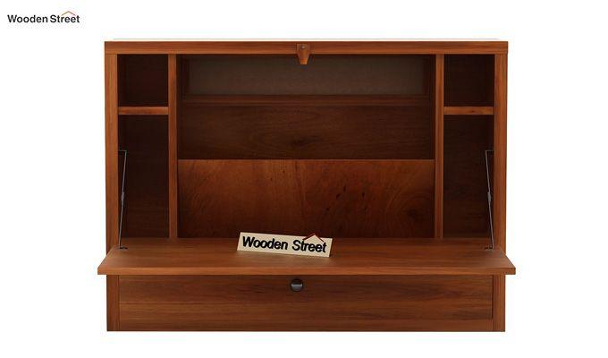 Carmel Wall Mounted Desk (Honey Finish)-4