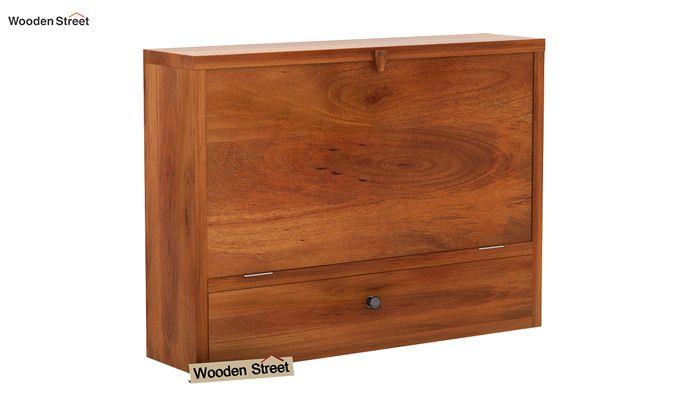 Carmel Wall Mounted Desk (Honey Finish)-6