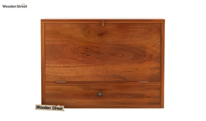 Carmel Wall Mounted Desk (Honey Finish)-7