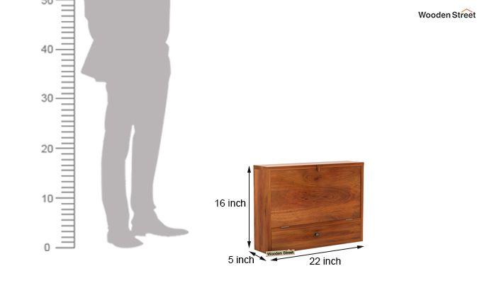 Carmel Wall Mounted Desk (Honey Finish)-8