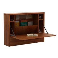 Carmel Wall Mounted Desk (Honey Finish)