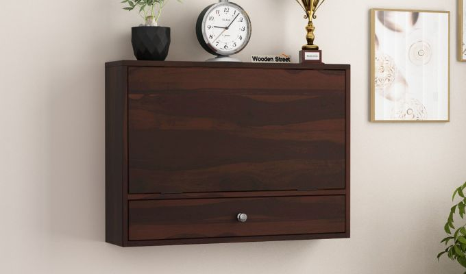 Carmel Wall Mounted Desk (Walnut Finish)-2