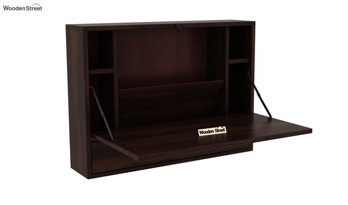 Carmel Wall Mounted Desk (Walnut Finish)-4