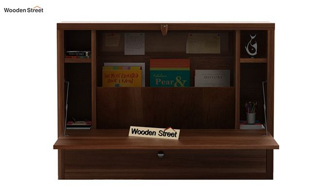 Carmel Wall Mounted Desk (Teak Finish)-2