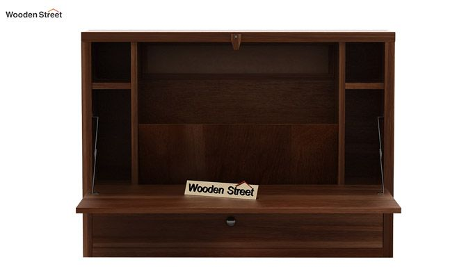 Carmel Wall Mounted Desk (Teak Finish)-4