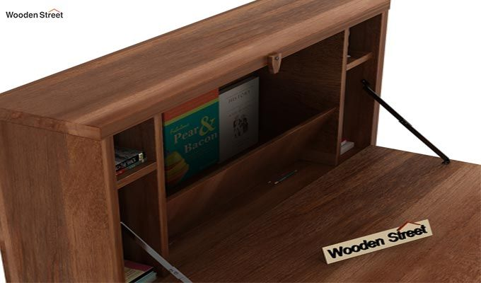 Carmel Wall Mounted Desk (Teak Finish)-5