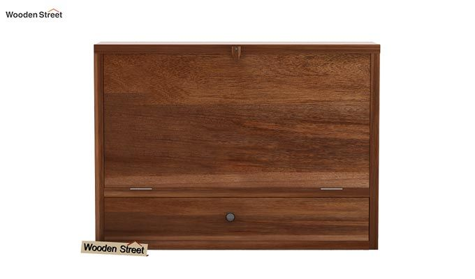 Carmel Wall Mounted Desk (Teak Finish)-7