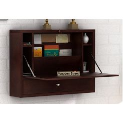 Carmel Wall Mounted Desk (Walnut Finish)