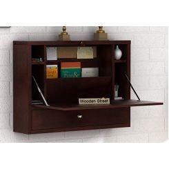 Carmel Wall Mounted Desk (Walnut Finish)