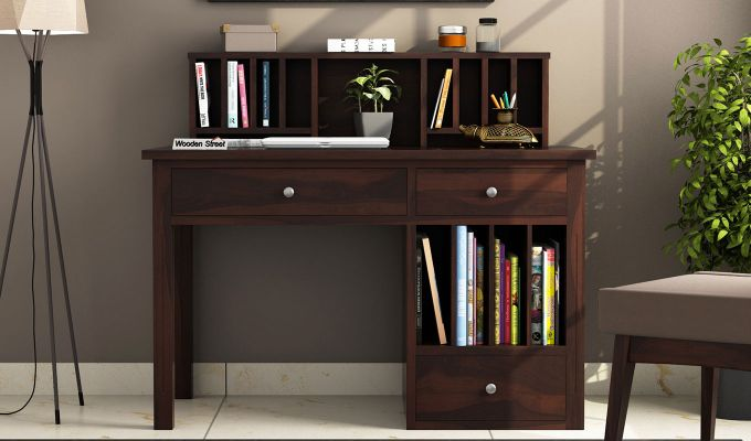Cassidy Study Table (Walnut Finish)-2