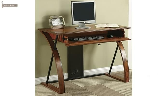 Declan Computer Desk (Teak Finish)-1