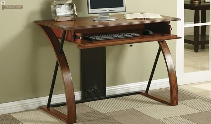 Declan Computer Desk (Teak Finish)-2