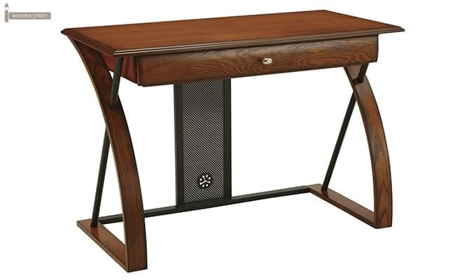 Declan Computer Desk (Teak Finish)-3