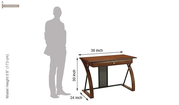 Declan Computer Desk (Teak Finish)-4