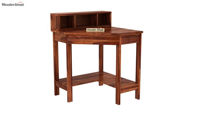 Eldor Study Table with Shelf (Honey Finish)-2
