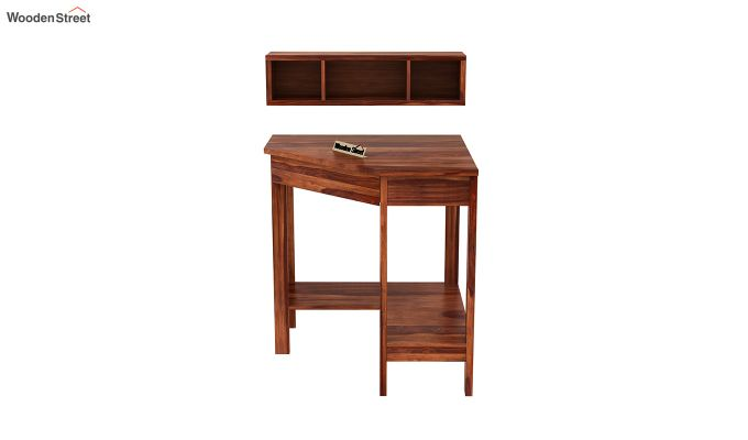 Eldor Study Table with Shelf (Honey Finish)-5