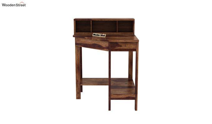 Eldor Kids Study Table with Shelf (Teak Finish)-3