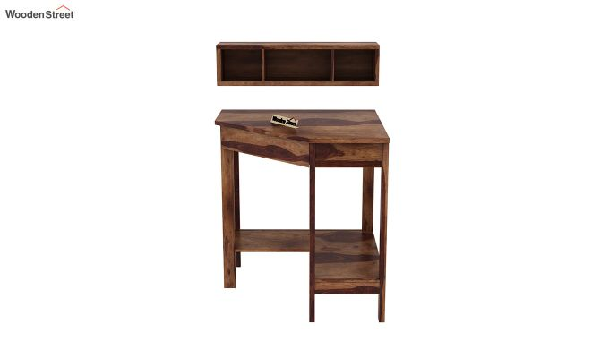 Eldor Kids Study Table with Shelf (Teak Finish)-5