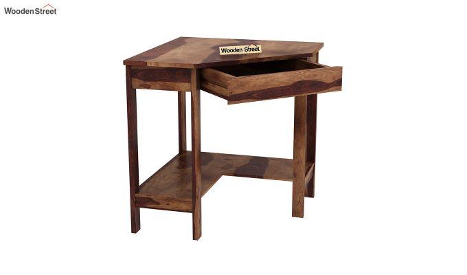 Eldor Kids Study Table with Shelf (Teak Finish)-6