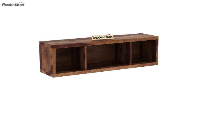 Eldor Kids Study Table with Shelf (Teak Finish)-7