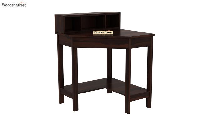 Eldor Study Table with Shelf (Walnut Finish)-2