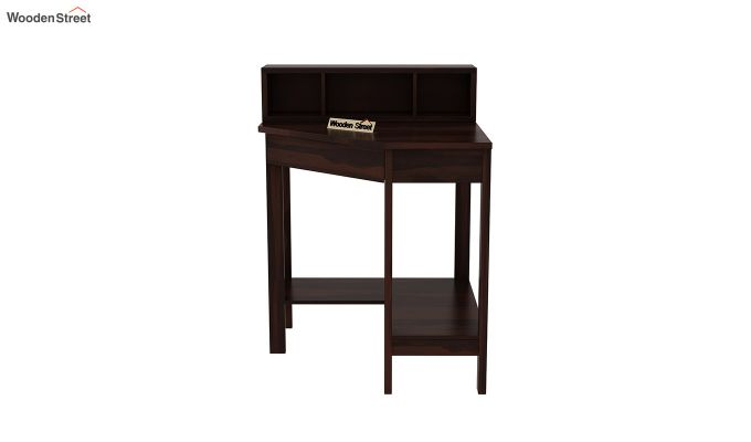 Eldor Study Table with Shelf (Walnut Finish)-3